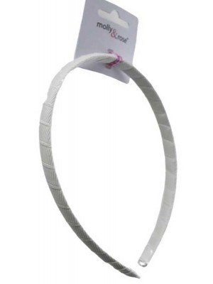 Wholesale Thin Design White Satin Alicebands (1cm)