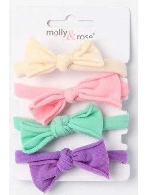 Soft Jersey Fabric Elastics With Tied Bow Detail