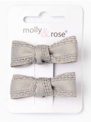 Wholesale Glitter Fabric Rose On Fork Clip - 5cm
