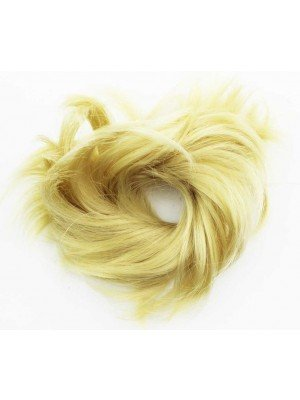 Wholesale Synthetic Hair Scrunchies - Light Blonde