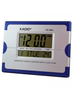Wholesale Kadio Jumbo Wall & Table Digital Clock - Blue