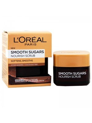 Wholesale L'Oreal Smooth Sugars + Cocoa Butter Face & Lip Nourish Scrub