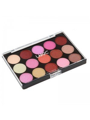 Wholesale Laroc 15 Colour Eyeshadow Palette - Shimmer Tones