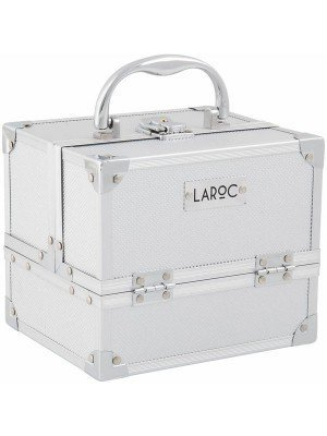 Laroc-Aluminium-Professional-Makeup-Vanity-Travel-Case-Grey-Picture-1
