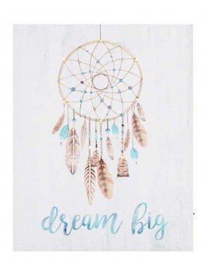 LED Light Up Dream Big Dreamcatcher Canvas-50 x 40cm