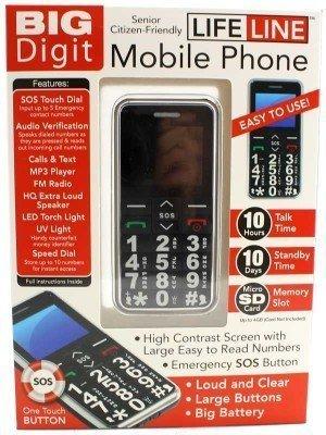 LifeLine Senior Citizen Friendly Mobile Phone - Black