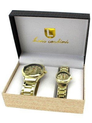 Luis Cardini His & Her Watch Gift Set - Gold (2142)