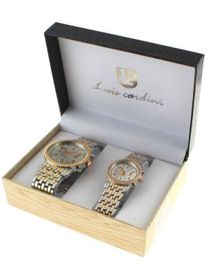 Luis Cardini His & Her Watch Gift Set - Rose Gold (2286)