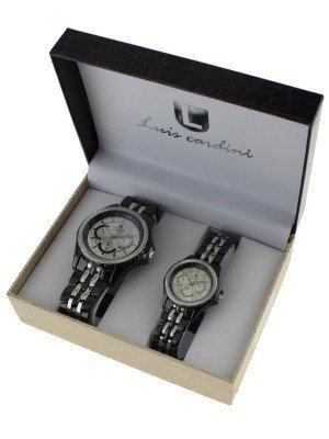 Luis Cardini His & Her Watch Gift Set - Silver (1492)