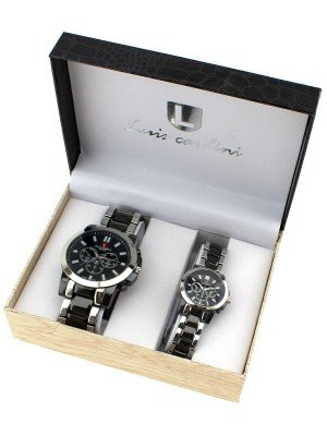 Luis Cardini His & Her Watch Gift Set - Silver (2277)