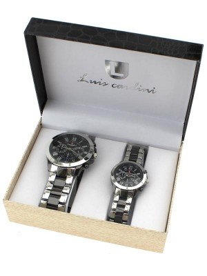 Luis Cardini His & Her Watch Gift Set - Silver (2291)