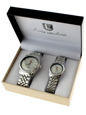 Luis Cardini His & Her Watch Gift Set - Silver (2292)
