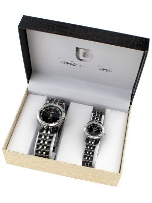 Luis Cardini His & Her Watch Gift Set - Silver (2328)