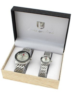 Luis Cardini His & Her Watch Gift Set - Silver (1566)