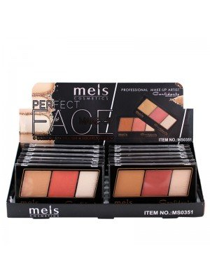 Wholesale Mels 3-In-1 Contour, Blush & Highlighter Palette - Assorted