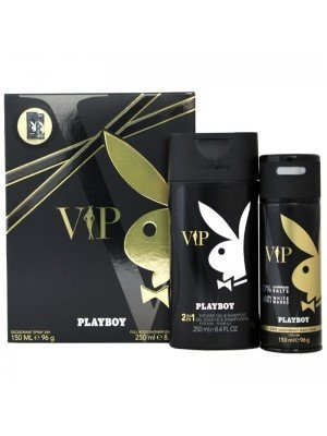 Wholesale Mens Playboy VIP Perfume Gift Set - Deodorant Spray & Shower Gel