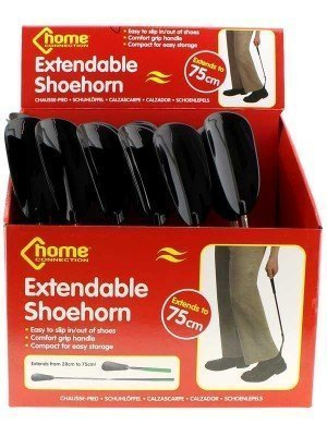 Metal and Plastic Extendable Shoe Horn - 24 Pieces