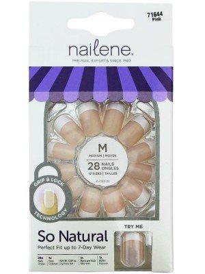 Wholesale Nailene So Natural Medium False Nails - Pink