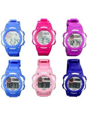 Polit Children's Multi Functional Digital Silicon Strap Watch - Assorted Designs