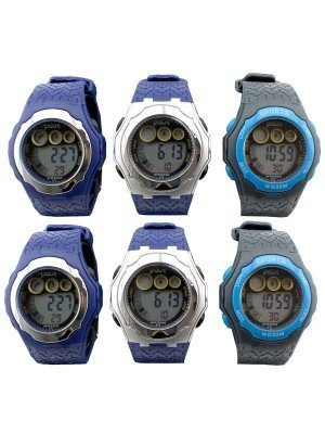 Polit Men's Multi Functional Digital Silicone Strap Watch - Assorted Designs