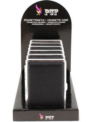 PUF Leather Case Black - Assorted Designs (10 x 8cm)