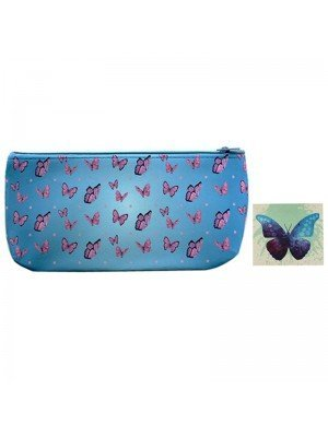 Wholesale PVC Butterfly Design Pouch Bag - Assorted