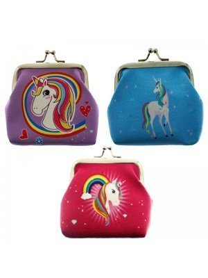 Wholesale PVC Unicorn Design Coin Purse - Assorted