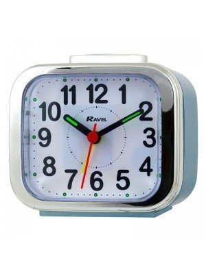 Wholesale Ravel Quartz Chrome Edged Alarm Clock - Blue
