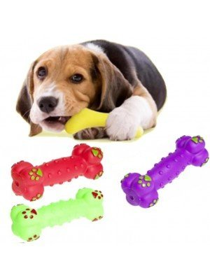 Wholesale Squeaky Dog Bone Toys - Assorted Colours