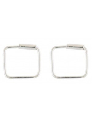 Wholesale Sterling Silver Square Hoop Earrings - 8mm