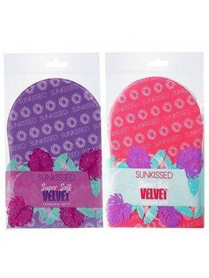 Wholesale Sunkissed Super Soft Velvet Single Sided Tanning Mitt - Assorted