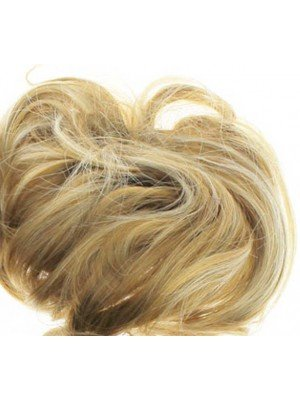 Wholesale Synthetic Hair Scrunchies - Light Brown with Blonde Highlights