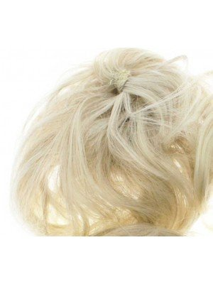 Wholesale Synthetic Hair Scrunchies - White Blonde
