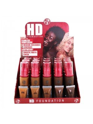 Wholesale W7 High Definition 12 Hour Foundation - Dark Assorted