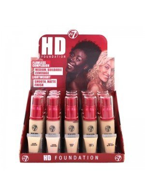 Wholesale W7 High Definition 12 Hour Foundation - Fair Assorted