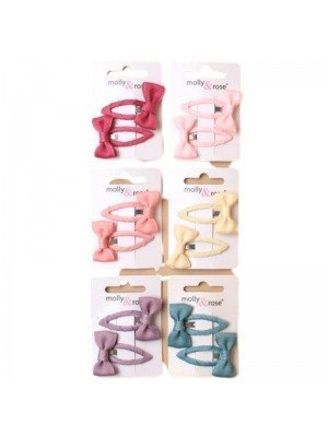 Pair Of Ribbon Wrapped Bow Sleepies - 3.5cm