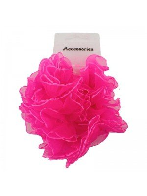 Wholesale Fashion Hair Scrunchies - Hot Pink