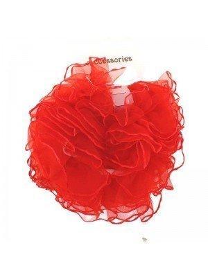 Wholesale Fashion Hair Scrunchies - Red