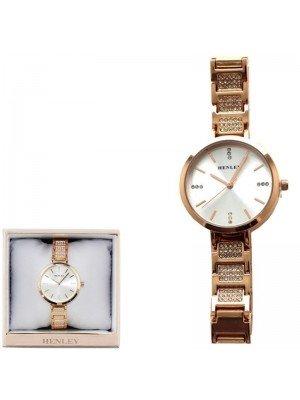 Wholesale Henley Ladies Crystal Bracelet Watch - Rose Gold