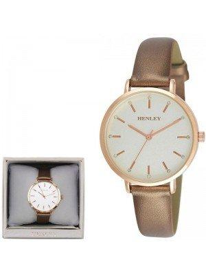 Wholesale Henley Ladies Metallic Strap Watch - Gold