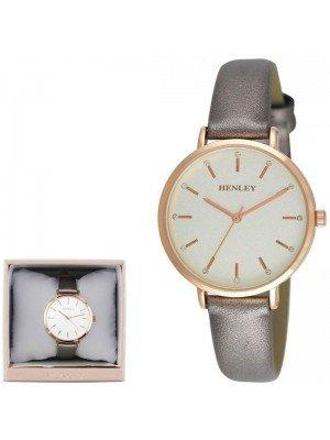 Wholesale Henley Ladies Metallic Strap Watch - Grey