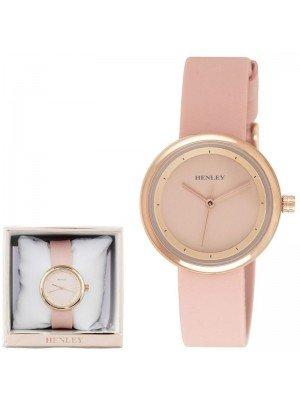 Wholesale Henley Ladies Slimline Sports Silicone Strap Watch - Pink/Rose Gold