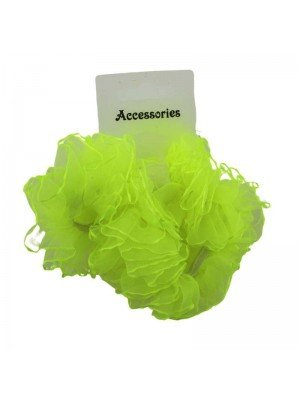 Wholesale Fashion Hair Scrunchies - Neon Green
