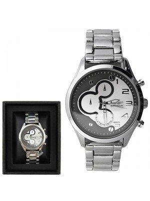 Wholesale Softech Mens Fashion Metal Bracelet Watch Strap - Silver