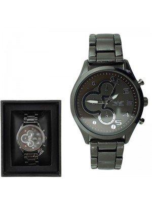 Wholesale Softech Mens Fashion Metal Bracelet Watch Strap - Black & Brown