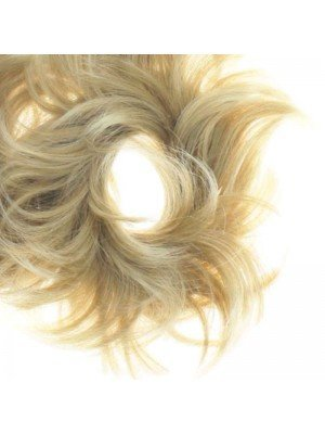 Wholesale Synthetic Hair Scrunchies - Blonde with Highlights