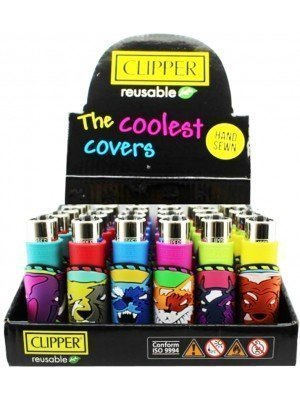 """Clipper Reusable The Coolest Covers """"Wild Animals"""" Design Metal Lighters - Assorted"""