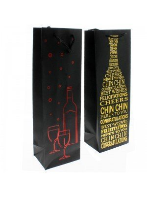 Wine Bottle Gift Bags - Assorted Designs