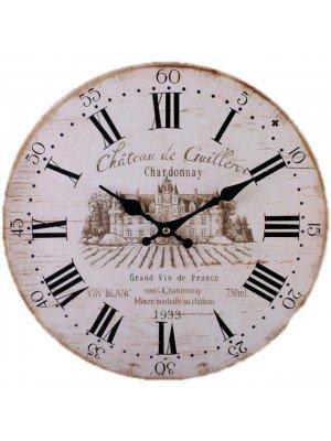 Large Rustic Wine Design Wall Clock