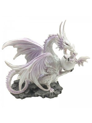 Winter Warrior Dragon Large Figurine - Ice Mother